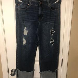 Size 12 EUC distressed jean crops